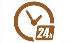土日祝日を含め、24時間体制